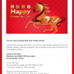 Yar Chi Ting Chinese New Year Family Dinner at Radisson Blu Pudong in Shanghai
